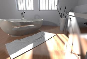 Wohndesign - modernes Badezimmer