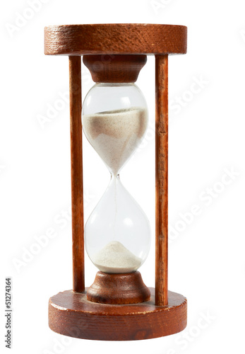 Old sand clock, hourglass