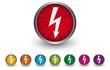 Buttonsammlung - Strom - Blitz