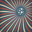 Abstract american flag themed background with stars. Vector, EPS