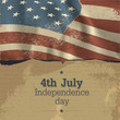 Independence day vintage poster design. Vector, EPS10