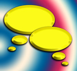 3d golden speech bubbles illustration