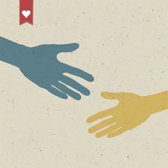 Abstract hand shake. Vector, EPS10