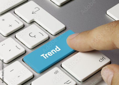 Trend keyboard key finger