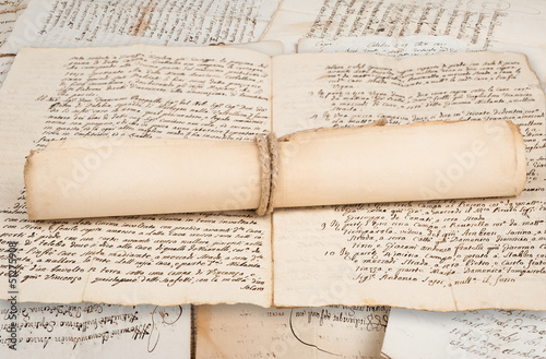 Rolled manuscripts