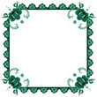 frame with stylized flowers