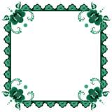 frame with stylized flowers