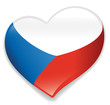 Czech heart vector