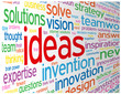 """IDEAS"" Tag Cloud (innovation solutions creativity smart team)"