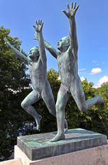 Vigeland park in Oslo, Norway