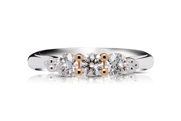 Trilogy of jewels in a ring