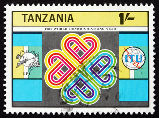 Postage stamp Tanzania 1983 Emblem, World Communications Year