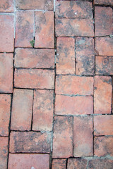 old brick floor