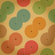 Vintage retro seamless background with closed spirals. Eps10