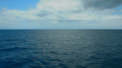 deep sea water and sky horizon ocean background