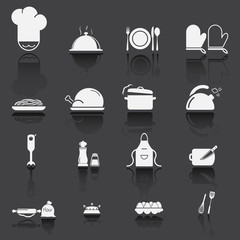 Kitchen Utensils and food preparation black