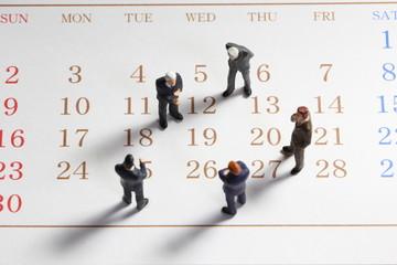 カレンダーの上で会議