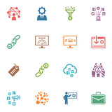 SEO & Internet Marketing Icons - Set 2 | Colored Series