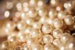 Leinwandbild Motiv Pearl necklaces