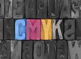 Fototapety Cmyk made from old letterpress blocks