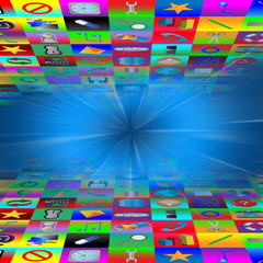 Multimedia abstraction of web icons