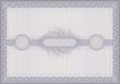 Certificate violet guilloche voucher template horizontal A4