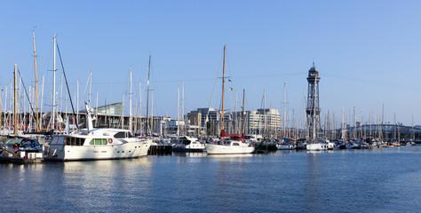 Sailboat in Barcelona, Spain