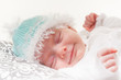 baby schlafend lachend