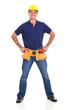 handyman wearing tool helmet