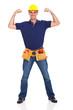 strong handyman posing