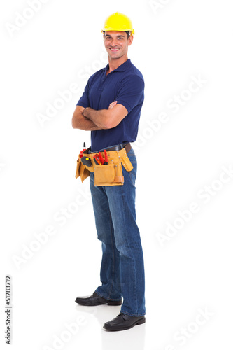portrait of happy handyman