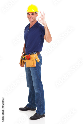 handyman giving ok sign