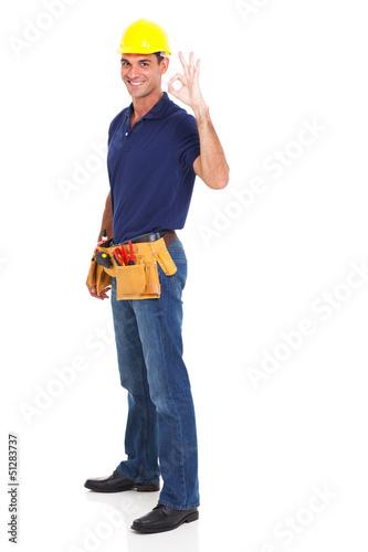 handyman giving ok sign