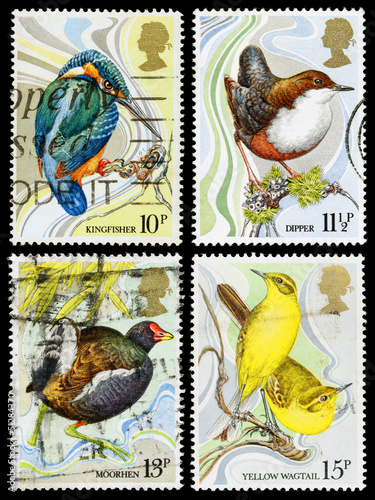 Britain Wild Bird Postage Stamps