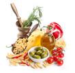 Italian cuisine. Pasta ingredients