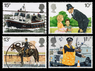 Britain Police Postage Stamps