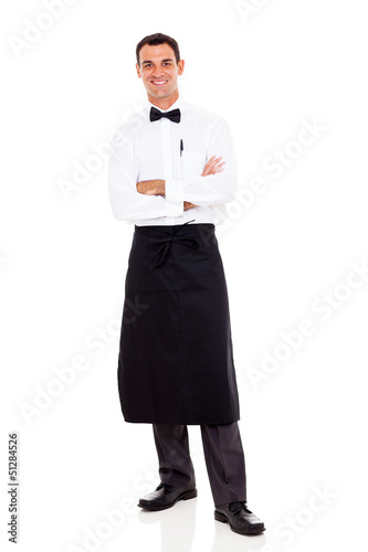 waiter studio portrait