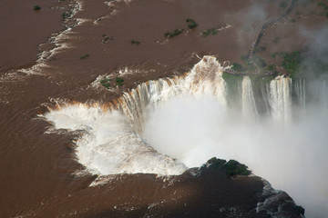 Iguazu Falls, view from helicopter