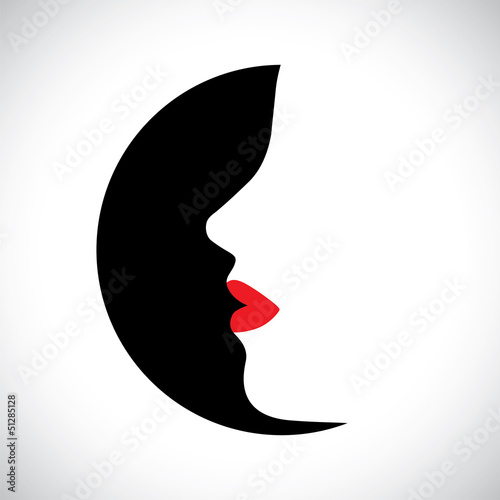 Vector illustration- abstract face of stylish modern woman