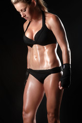 Toned Fitness Body of a Woman
