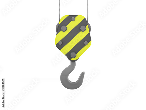 3d construction crane hook