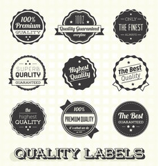 Vector Set: Vintage Premium Quality Labels and Icons