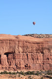 Hot Air Balloon Above Sandstone Mesa