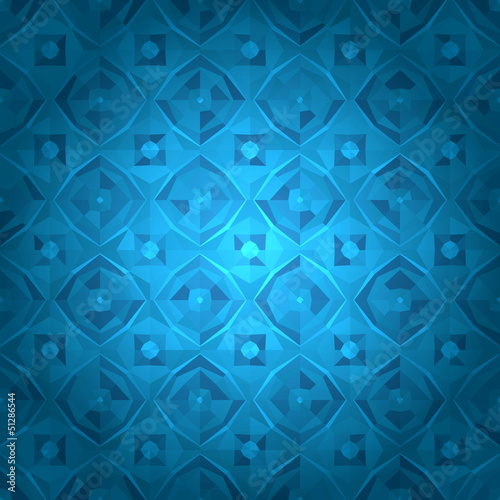Blue geometrical background with sample text
