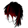 Medium Hair Layers Icon 1 Red