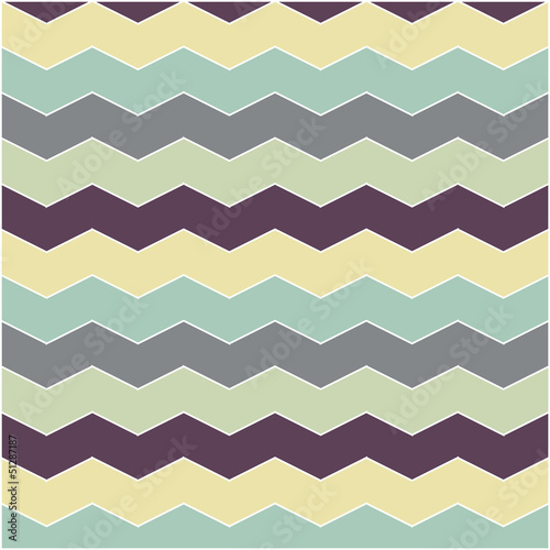 Deurstickers ZigZag abstract retro geometric pattern