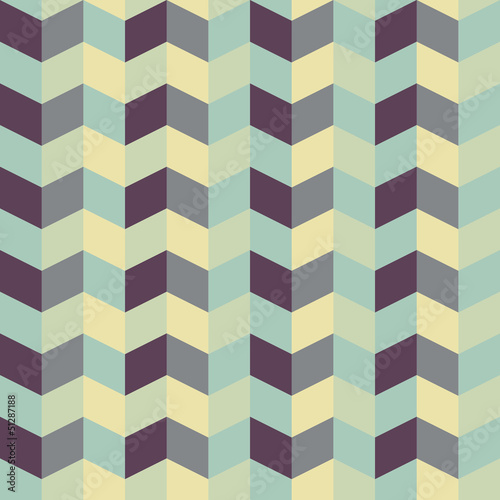 Tuinposter ZigZag abstract retro geometric pattern