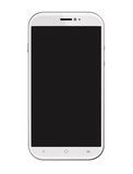 White Smartphone Isolated on White Background