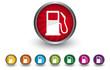Buttonsammlung - Tankstelle - Guthaben