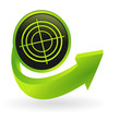 bouton diagnostic flêche verte